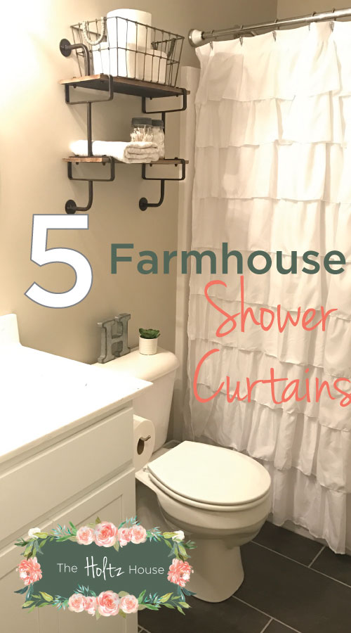 FarmhouseShowerCurtainPinterest